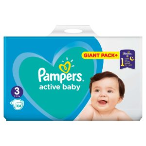 533f161d857 Πανες Pampers Active Baby Giant Pack+ Νο3 (6-10kg) 104 τεμ