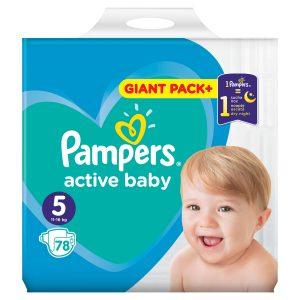 Παιδικές πάνες Pampers no5