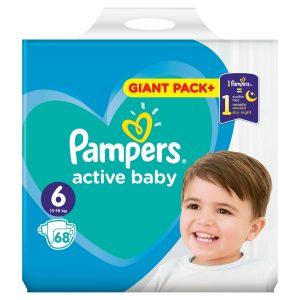 Παιδικές πάνες Pampers no6