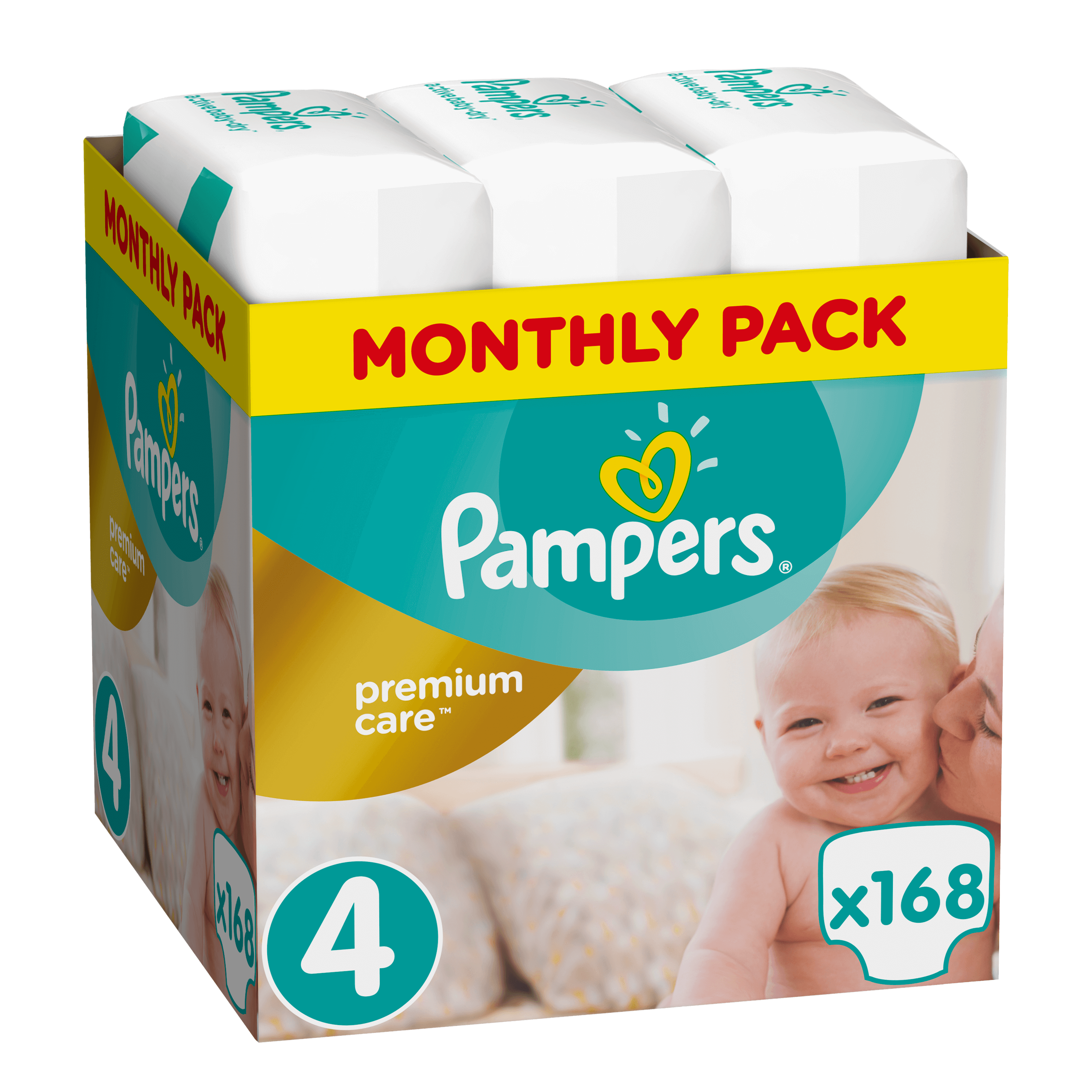 62cd8698b04 Πάνες Pampers Premium Care Monthly Pack Νο4 (8-14kg) 168τεμ - Panes.gr