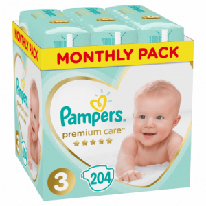 pampers premium care no3 monthly pack