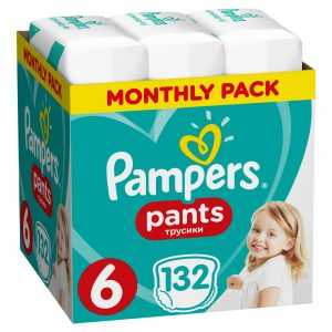 Pampers pants no6 monthly pack 132 τεμάχια