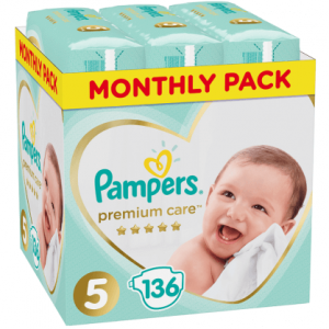 pampers premium care no5 monthly pack