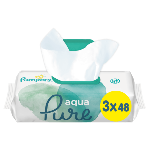 Pampers Aqua Pure Μωρομάντηλα - 144 Μωρομάντηλα (3x48τεμ)