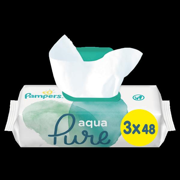 Pampers Aqua Pure Μωρομάντηλα - 144 Μωρομάντηλα (3x48τεμ)