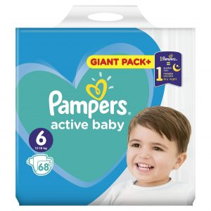 PAMPERS ACTIVE BABY DRY GIANT PACK+ ΝΟ6 (13-18KG) 68